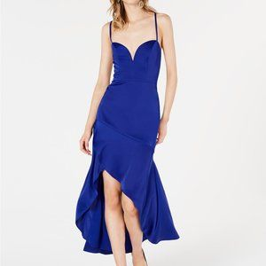 New Aidan Mattox Asymmetric Prom Party Gown
